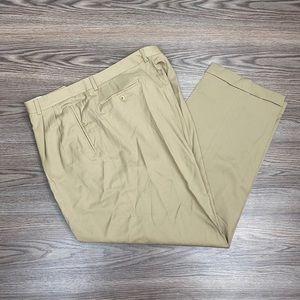 Zanella Solid Tan Dress Pants 42x31